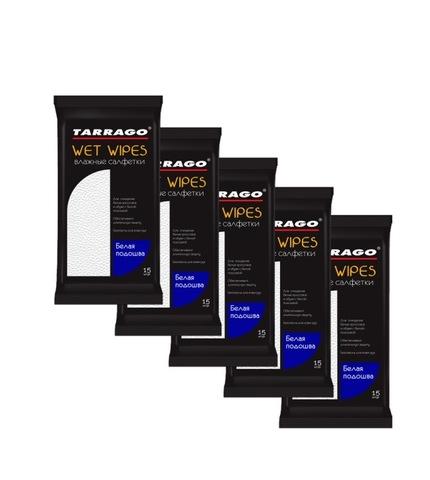 Набор влажных салфеток для белой подошвы TARRAGO (5 упак)