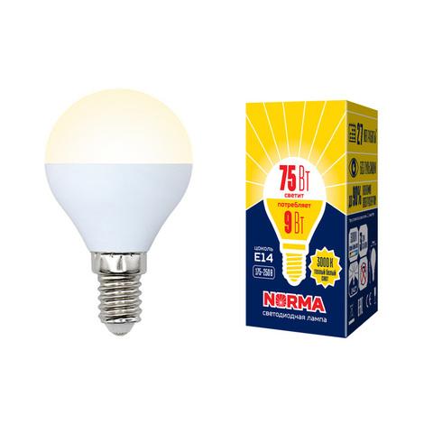 LED-G45-9W/WW/E14/FR/NR Лампа светодиодная. Форма