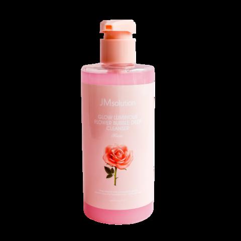 JMsolution FLOWER LUMINOUS FLOWER BUBBLE DEEP CLEANSER ROSE