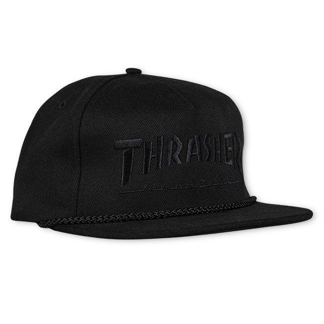 Кепка THRASHER Rope Snapback Black/Black