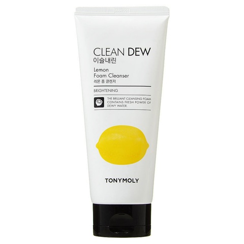Tony Moly Clean Dew Lemon Foam Cleanser  пенка для умывания с экстрактом лимона для тусклой кожи
