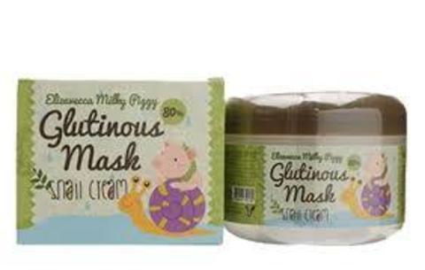 Крем-маска для лица НОЧНАЯ/УЛИТОЧНЫЙ МУЦИН Milky Piggy Glutinous 80% Mask, 100 гр Elizavecca