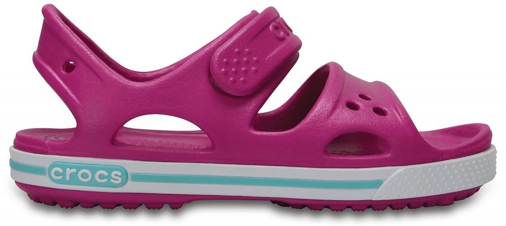 Детские сандалии Crocs Crocband Vibrant Violet / White для девочек