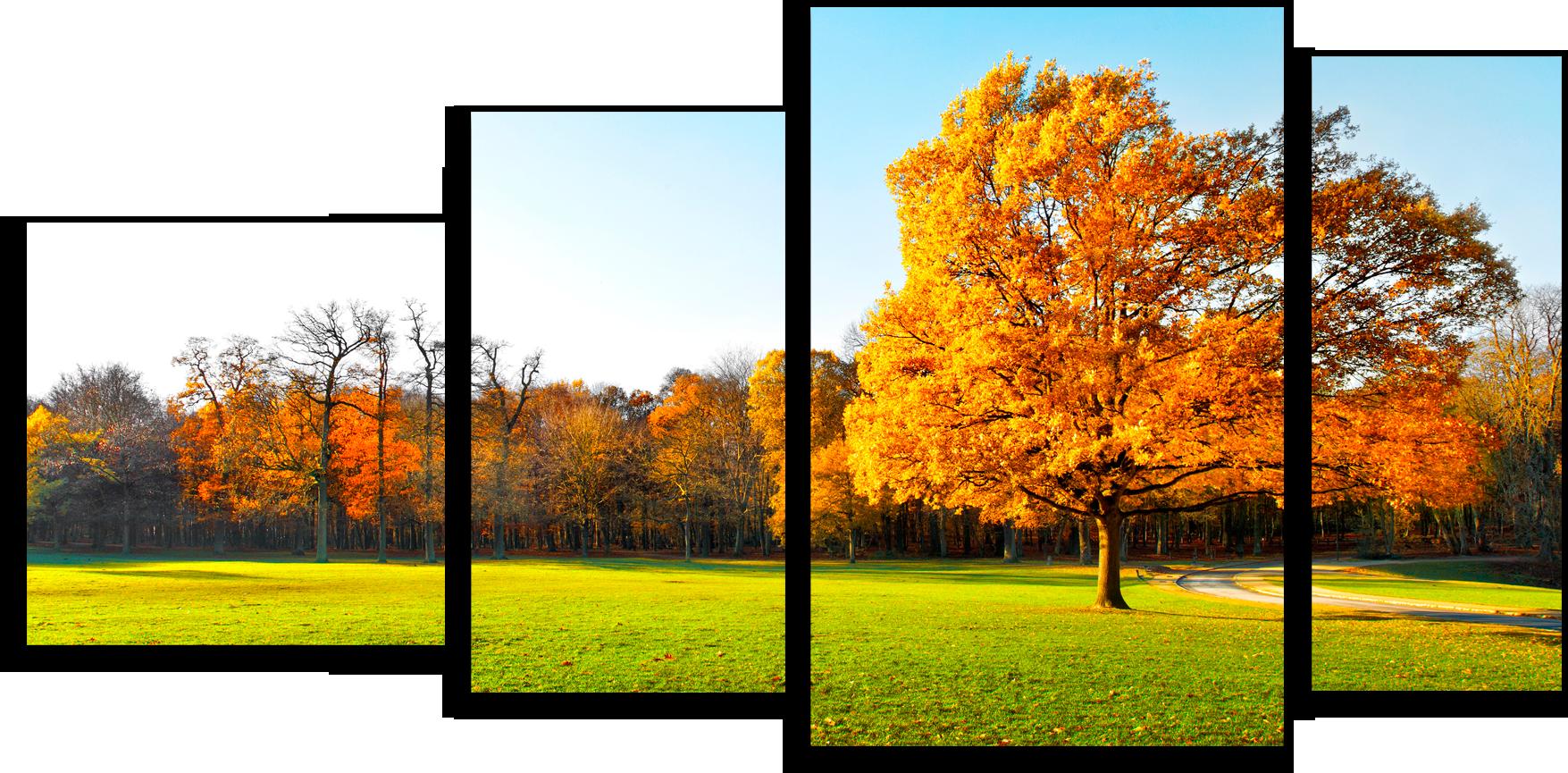 """Модульные картины Модульная картина """"Золотые листья"""" М45.png"""