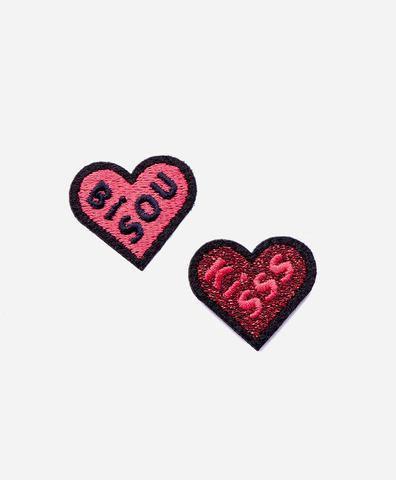 Набор из 2-х патчей-заплаток Bisous kiss