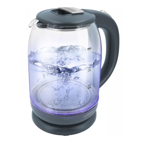 Электрический стеклянный чайник LUMME LU-142 серый гранит