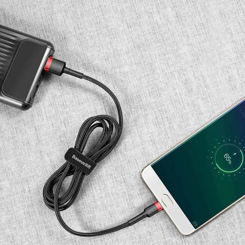 Кабель Baseus cafule Cable USB For Micro 2.4A 1M Red+Black