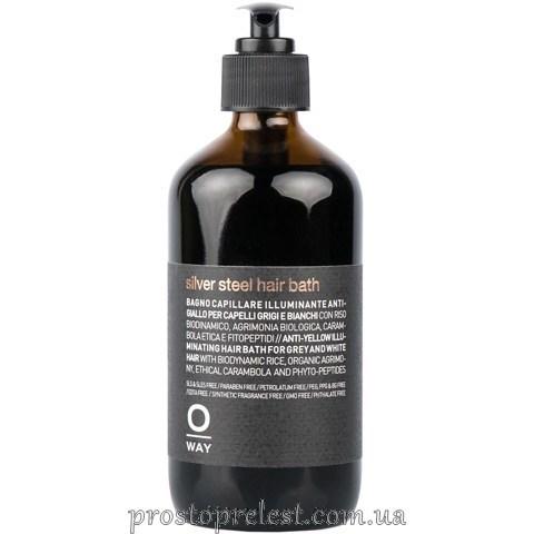 Rolland Oway Men Silver Steel Hair Bath - Шампунь для седых волос с антижёлтым эффектом