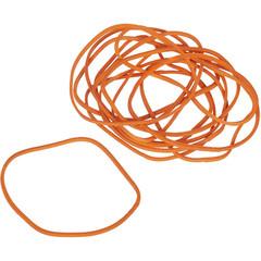 Резинка банковская универсальная 500 г (диаметр 60 мм, толщина 1.5 мм, оранжевая)