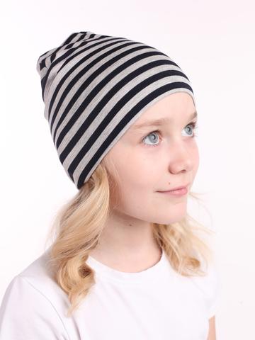 Детская шапочка бини полосатая