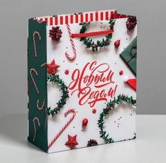 Пакет ламинированный вертикальный «С Новым годом», S 5.5 × 12 × 15 см