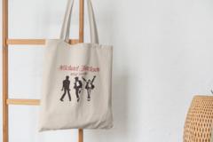 Сумка-шоппер с принтом Майкл Джексон (Michael Jackson) бежевая 007