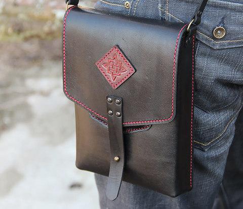 BAG399 Лаконичная сумка с ремнем на плечо, нашивка с тиснением