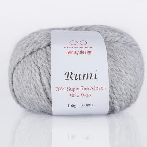 Пряжа Infinity Rumi 0040 светло-серый