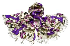 Женский хлопковый фиолетовый палантин (0776 PAL 3)