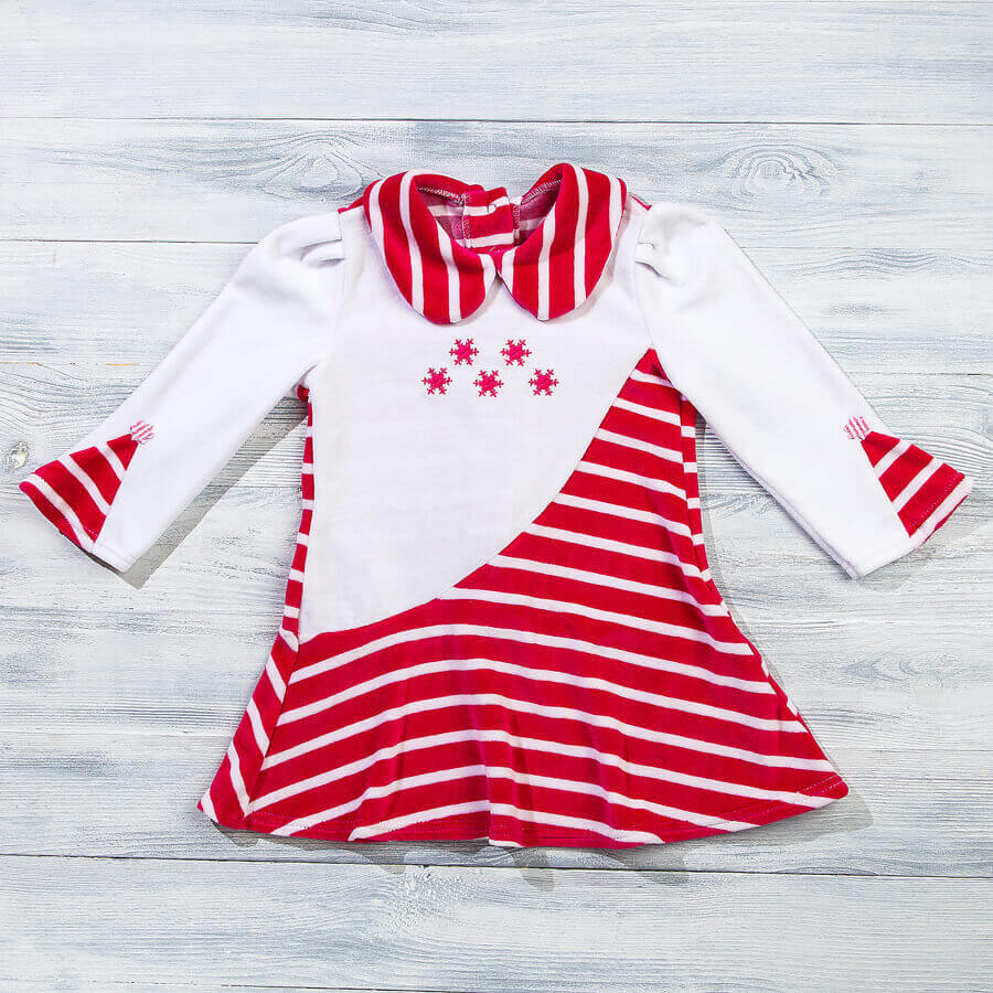 Платье велюровое для девочки