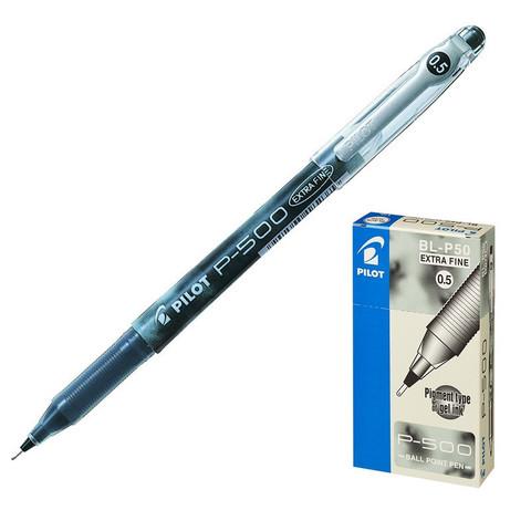 Ручка гелевая одноразовая Pilot P-500 черная (толщина линии 0.3 мм)