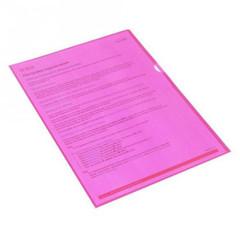 Папка-уголок A4 розовая 100 мкм (10 штук в упаковке)