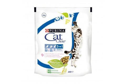 Сухой корм для кошек Purina Cat Chow Feline тройная защита, домашняя птица и индейка