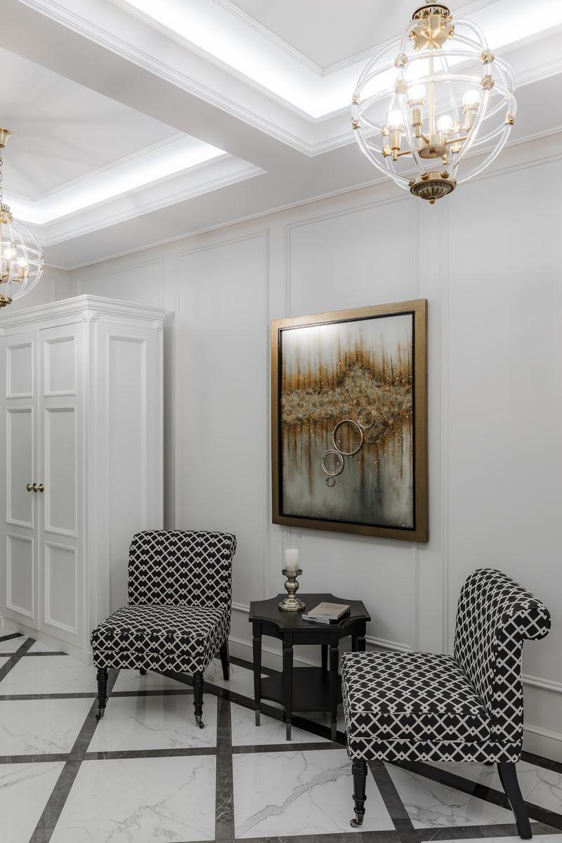 Кресла черно-белые (лён) (DY-734) Garda Decor