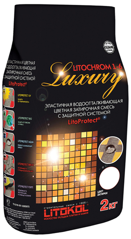 Цементная затирка LITOCHROM LUXURY 1-6 2 кг