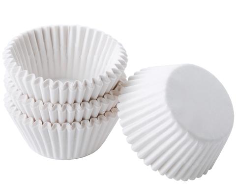 Капсулы для капкейков белые, 50х30 мм, 25 шт