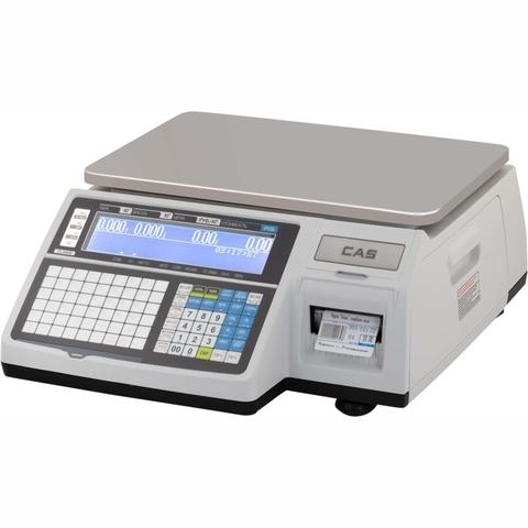 Торговые весы с печатью этикеток CAS CL3000-15B, 15кг, 2/5гр, 376x246, ГОСТ OIML R 76-1-2011, без стойки