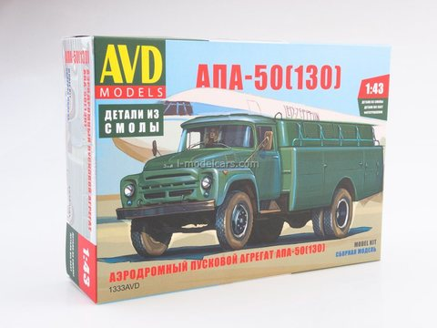 Model Kit Airfield launcher APA-50 (130) ZIL-130 1:43 AVD Models