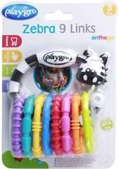 Playgro zebra 9 halqalı 3-24 ay