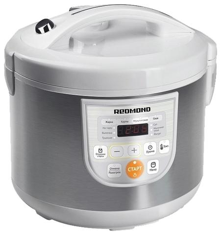 Мультиварка на 3 литра с керамической чашей мультиповаром режимом йогурта Redmond RMC-M12 фото