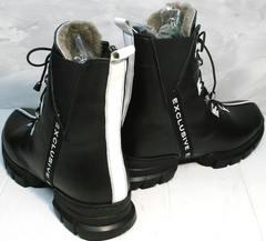 Женские ботинки на толстой подошве зимние Ripka 3481 Black-White.