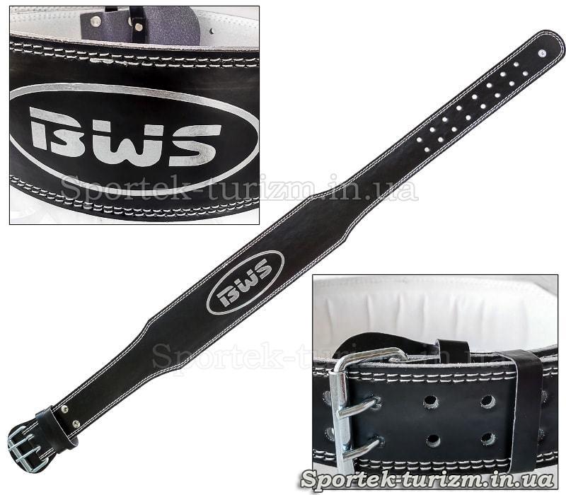 Шкіряний атлетичний пояс BWS/FGT з підкладкою для спини, широка частина 10 см