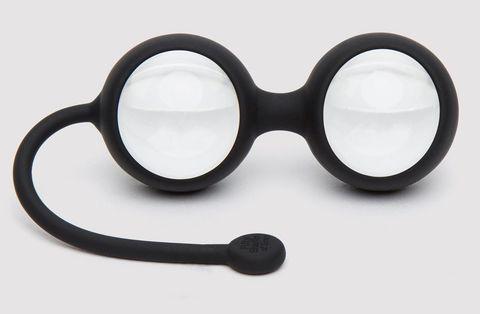 Черные вагинальные шарики Inner Goddess Glass Pleasure Balls 77g