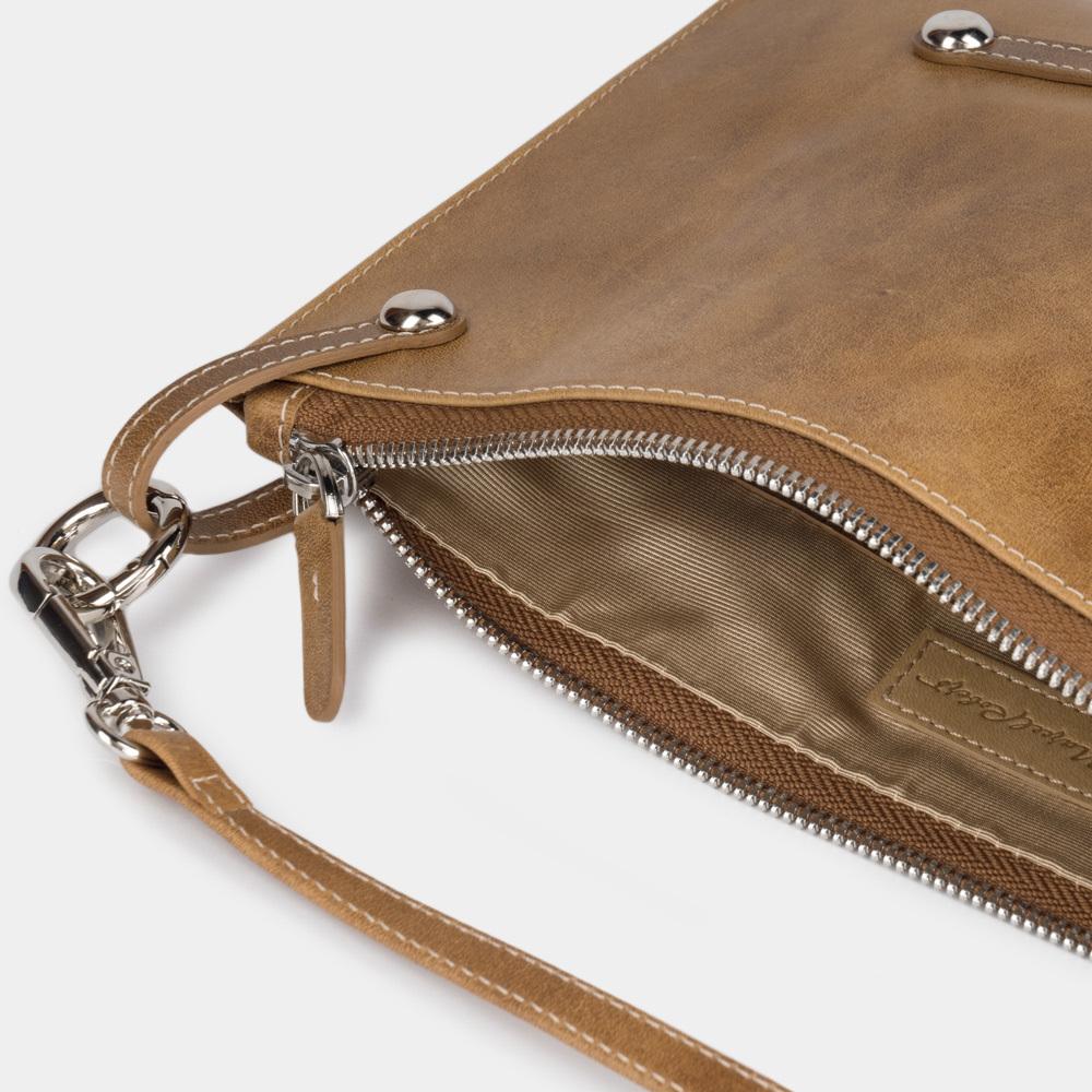 Женская сумка Julie Easy из натуральной кожи теленка, цвета винтаж