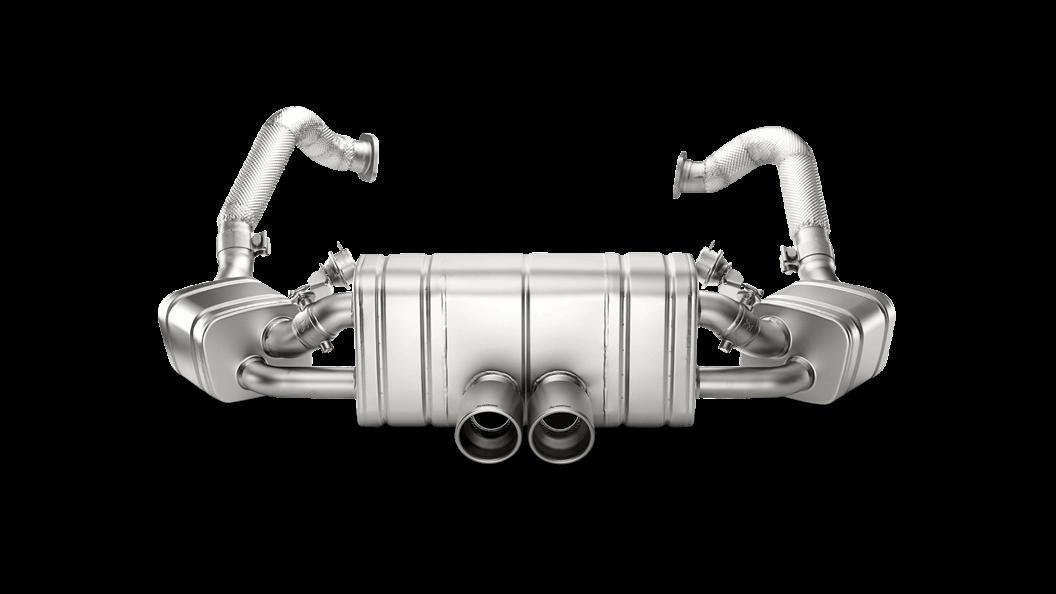 Выхлопная система AKRAPOVIC для Porsche Cayman  GT4 (981)