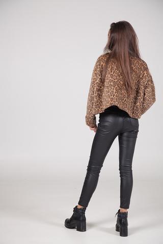 Куртка с леопардовым принтом оптом