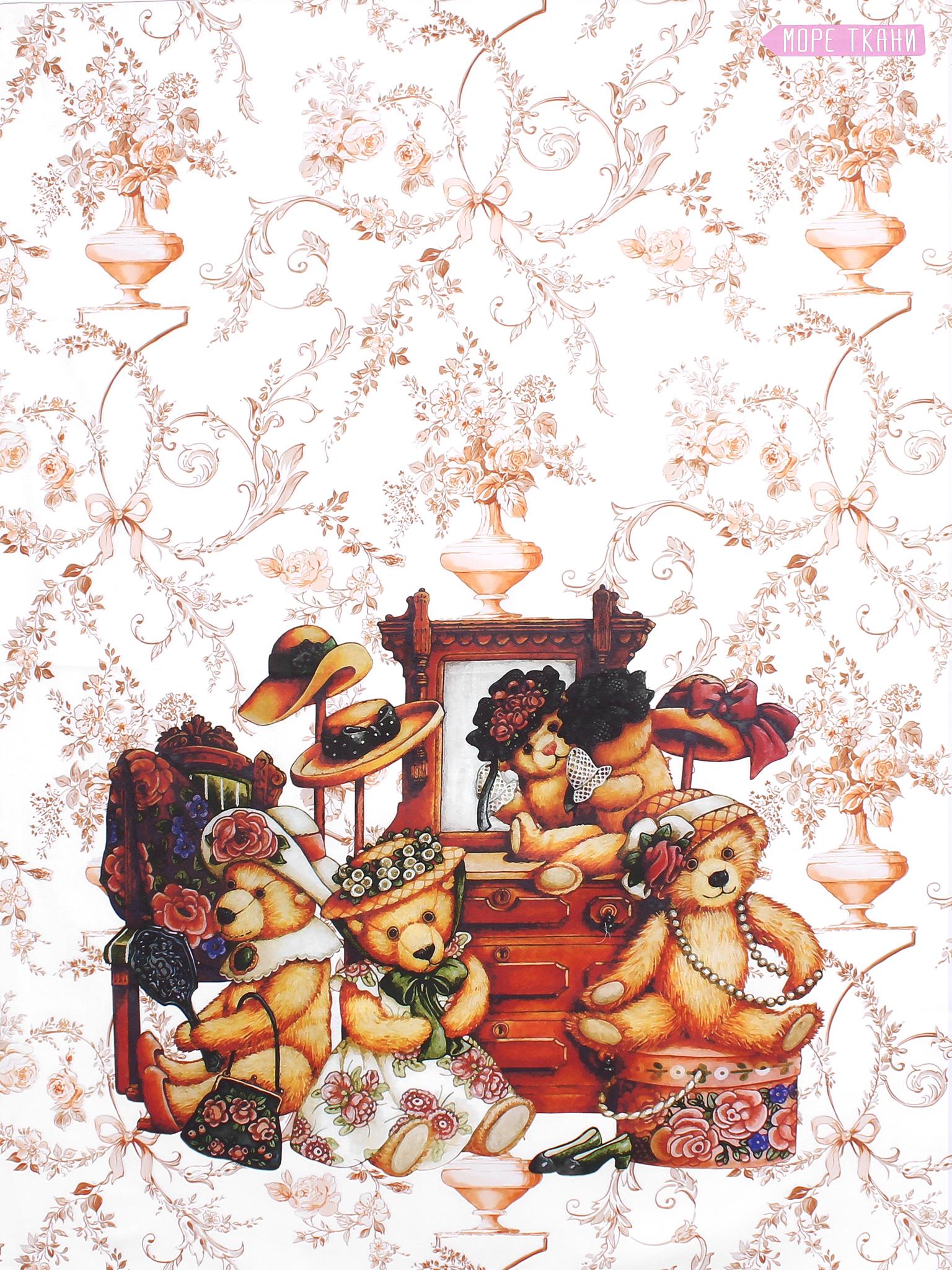 Панель(купон) мишутки нарядные-80*110 см