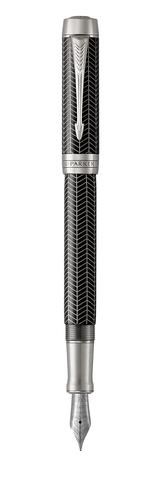 Перьевая ручка Parker Duofold Prestige Centennial, Black Chevron CT, перо: F123