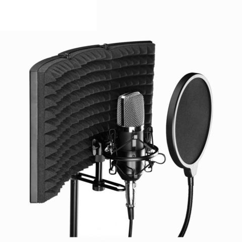 Акустический экран для микрофона со стойкой 140см