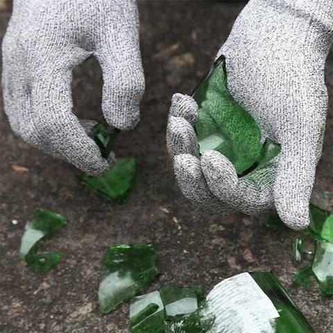Перчатки от порезов Cut Resistant Gloves серые