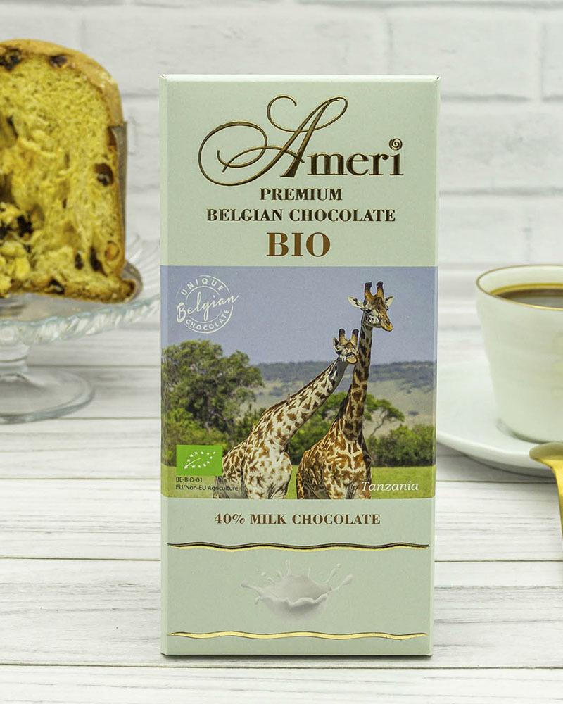 Молочный Шоколад Ameri 40 % Какао, БИО 100 гр.