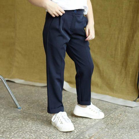 Детские брюки для девочки в синем цвете