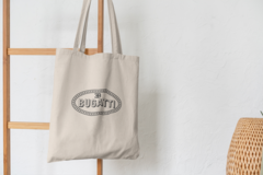 Сумка-шоппер с принтом Bugatti (Бугатти) бежевая 006