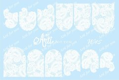Слайдер наклейки Arti for you цвет белый №W15
