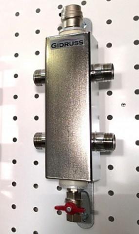 Гидравлический разделитель из нержавеющей стали - Гидрусс AISI 304 GRSS-60-25 + монтажный комплект K.TGR