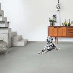 ПВХ плитка, кварц виниловый ламината Quick Step LVT Ambient Rigid Click Шлифованный бетон светло-серый RAMCL40139
