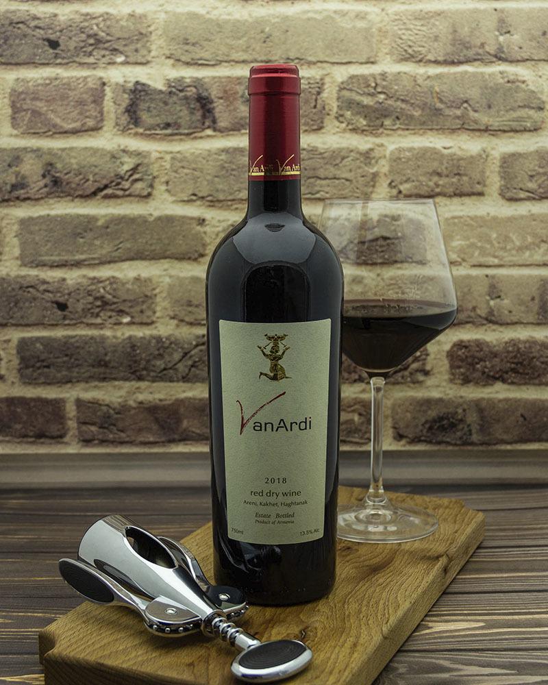 Вино Van Ardi Красное Сухое 2018 г.у. 13,5% 0,75 л.