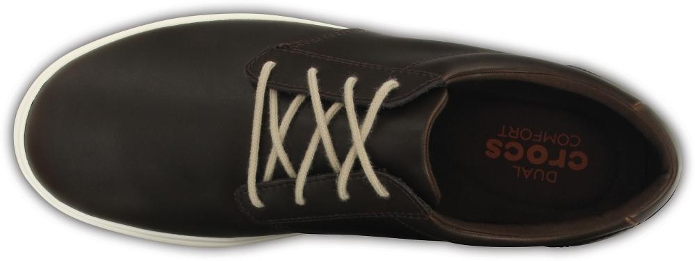 Мужские сникеры Crocs Men's CitiLane Leather Lace-up Espresso/White
