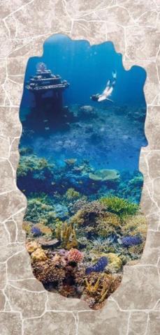 Листовая панель МДФ Акватон Грот бежевый Кораллы 2440х1220 мм