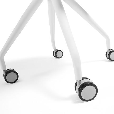 Cтул Lars белый на колесиках